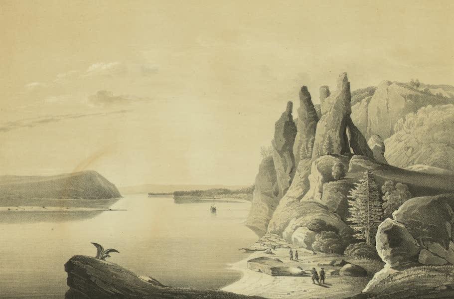 Puteshestvie po vostochnoi Sibiri - Skaly na reke Lene bliz goroda Olekminska (stolby) (1856)