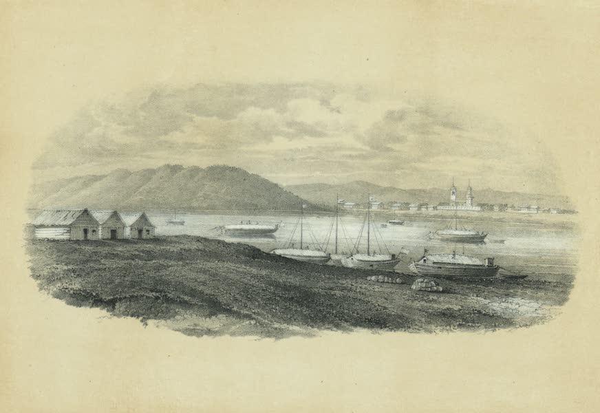 Puteshestvie po vostochnoi Sibiri - Vid sela Kachugi na reke Lene (1856)