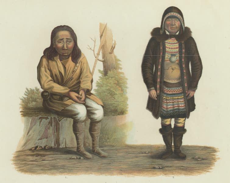 Puteshestvie po vostochnoi Sibiri - 1-Brodiachii tungus. 2-Olennyi tungus (1856)
