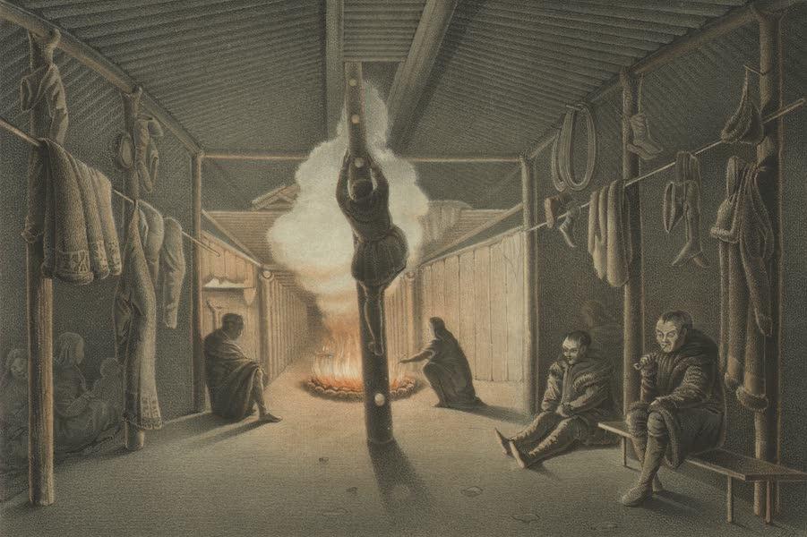 Puteshestvie po vostochnoi Sibiri - Vnutrennost' urty sidiachikh Koriakov (1856)