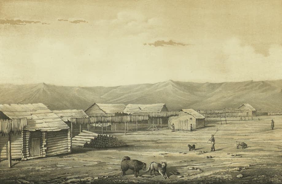 Puteshestvie po vostochnoi Sibiri - Rybnye magaziny (veshala) v Okhotske (1856)