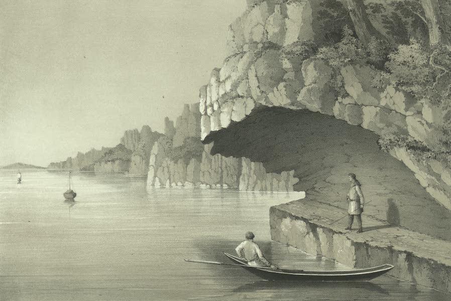 Puteshestvie po vostochnoi Sibiri - Navisshiia skaly na reke Lene (1856)