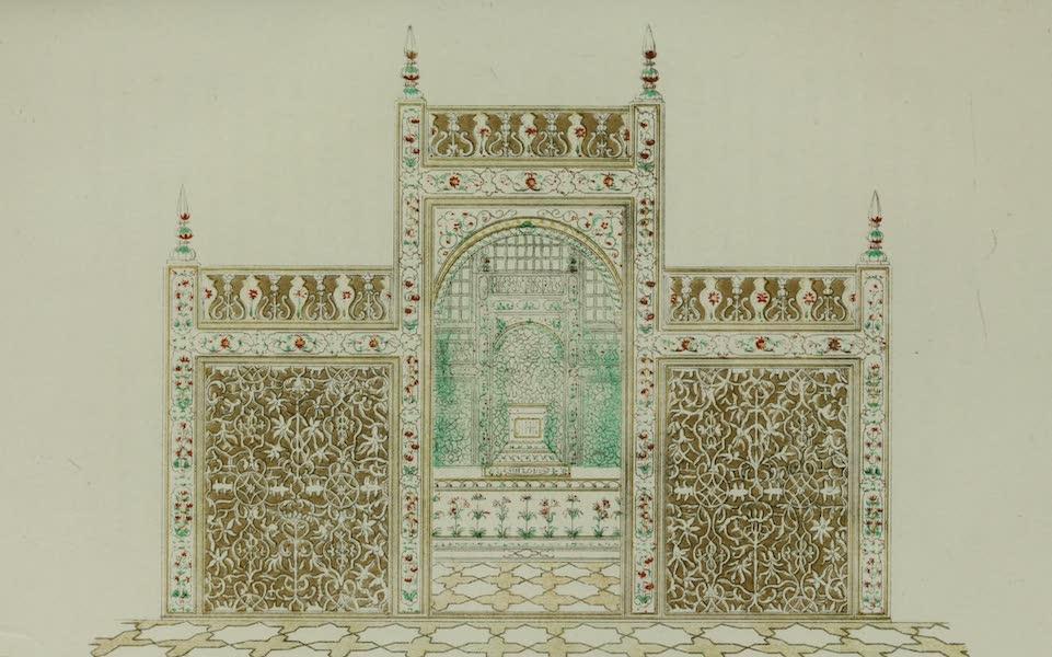 Marble Screen of the Tomb in the Taj