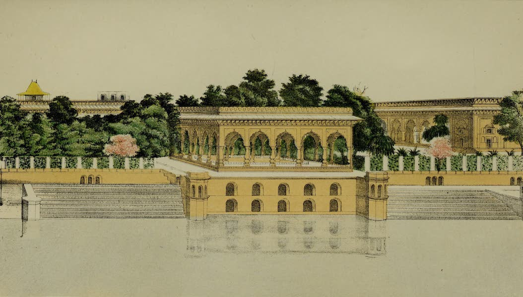 Rambles and Recollections of an Indian Official Vol. 2 - Pavilion on one side of the Garden at Deeg (II) (1844)