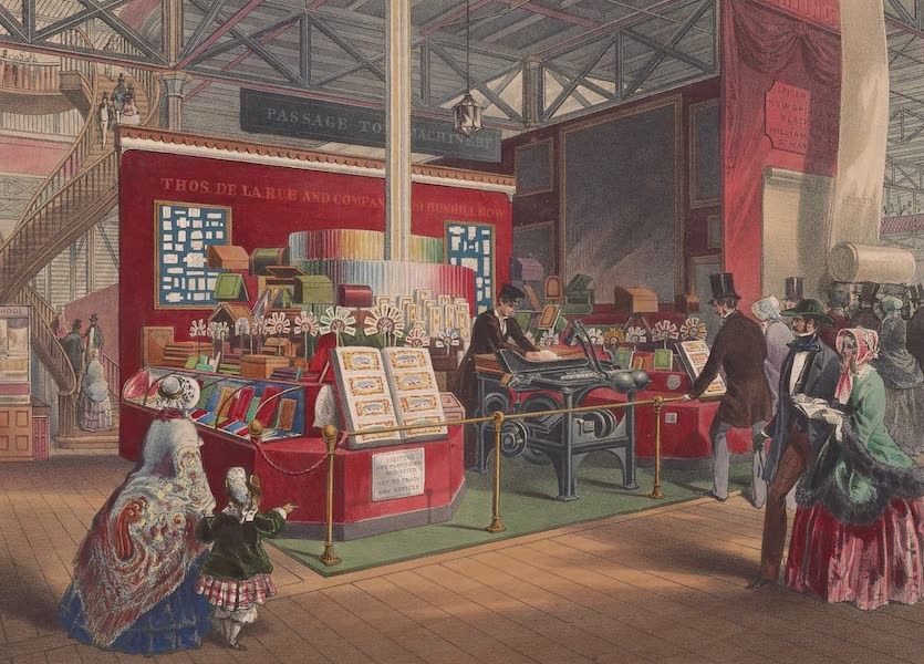 Recollections of the Great Exhibition - Part of the Stationery Court, from the West Nave (1851)