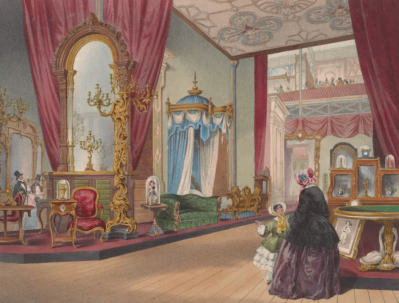 Recollections of the Great Exhibition - Part of the Furniture Court, from the West Nave (1851)