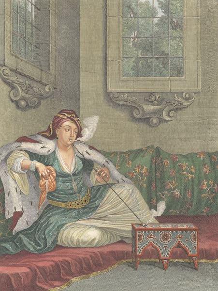 Femme Turque qui fume sur le Sopha