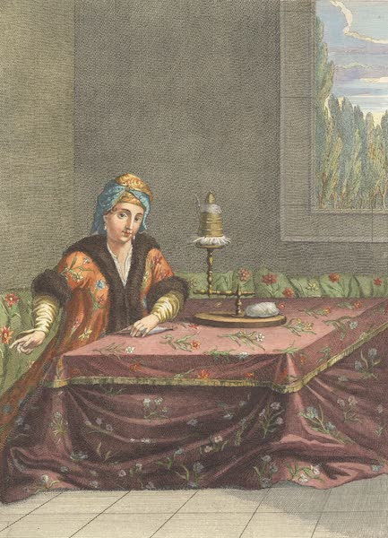 Femme Turque, filant au Tandour