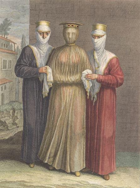 Recueil de Cent Estampes Representant Differentes Nations du Levant - Fille Armenienne, que l'on conduit a l'Eglise pour la marier (1714)