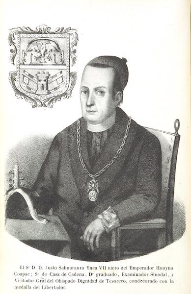 Recuerdos de la Monarquia Peruana - Just Sahuaraura Ynca Vii Portrait (1850)