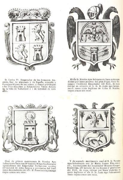 Recuerdos de la Monarquia Peruana - [Four Crests] (1850)