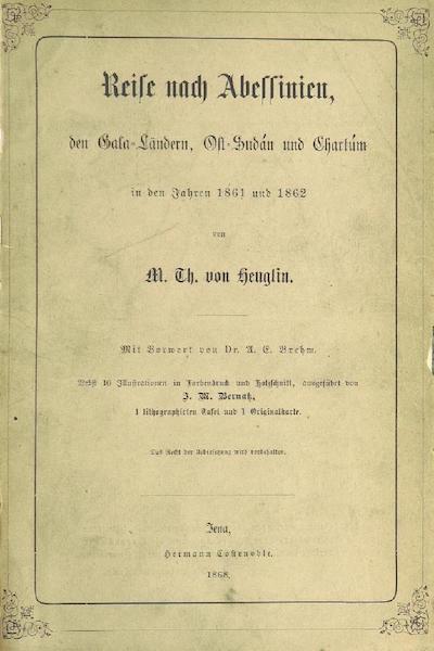 Reise nach Abessinien, den Gala-Landern - Front Cover (1868)