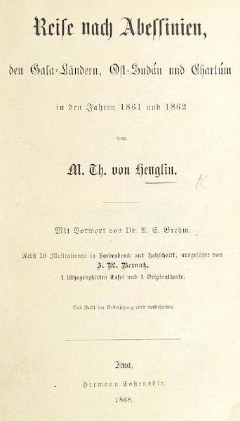 Reise nach Abessinien, den Gala-Landern - Title Page (1868)