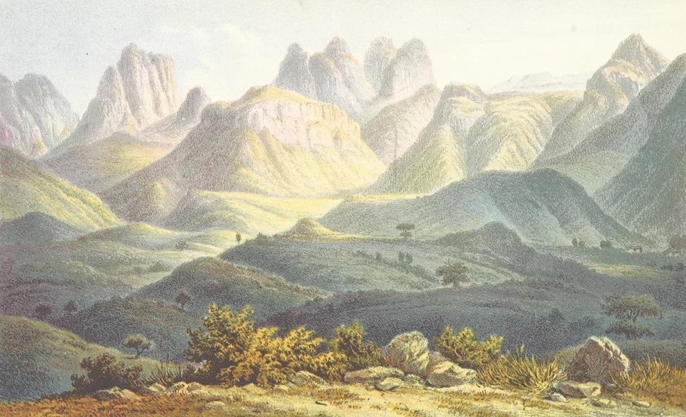 Reise nach Abessinien, den Gala-Landern - Gebirgslandschaft der Provinz Ada (1868)