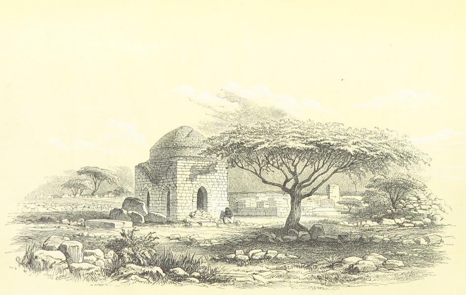 Reise nach Abessinien, den Gala-Landern - Kufisches Grabmal auf der Insel Dahlack (1868)