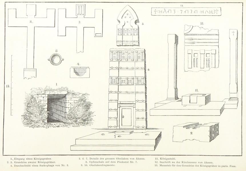 Reise nach Abessinien, den Gala-Landern - Ruinen von Aksum (1868)