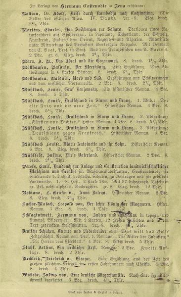 Reise nach Abessinien, den Gala-Landern - Back Cover (1868)