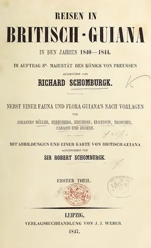 Natural History - Reisen in Britisch-Guiana Vol. 1