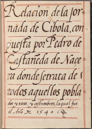 Spanish - Relacion de la jornada de Cibola
