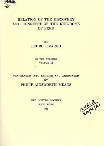 New World - Relation of the Discovery and the Conquest of the Kingdoms of Peru Vol. 2