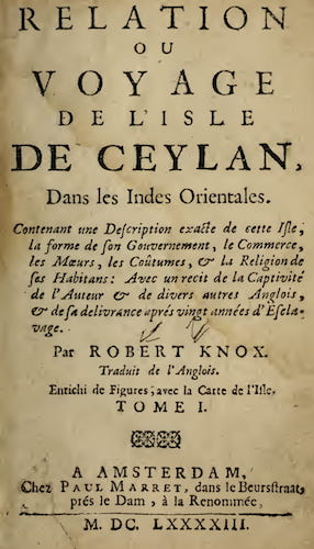 California Digital Library - Relation ou Voyage de l'Isle de Ceylan
