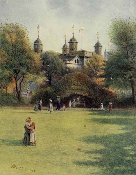 Relics & Memorials of London City - The Tower, from Trinity Square (1910)