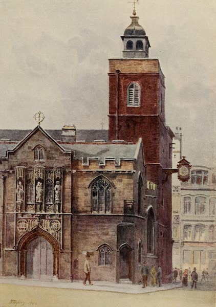 Relics & Memorials of London City - All Hallows, Barking, Seething Lane (1910)