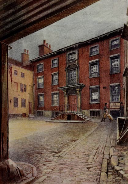 Relics & Memorials of London City - Wren's House, Botolph Lane (1910)