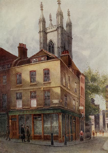 Relics & Memorials of London City - The Watling Tavern and St. Mary Aldermary (1910)
