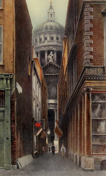Relics & Memorials of London City - St. Paul's, from King's Head Passage (1910)