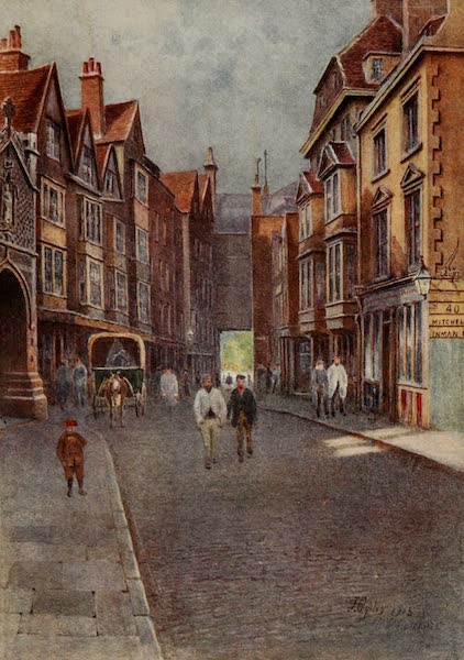 Relics & Memorials of London City - St. Bartholomew the Great, Entrance and Churchyard (1910)