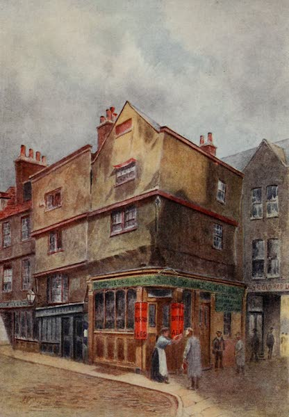 Relics & Memorials of London City - The Dick Whittington Tavern, Cloth Fair (1910)
