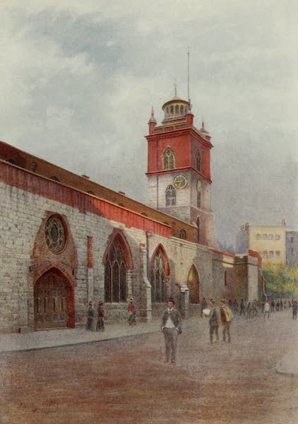 Relics & Memorials of London City - St. Giles', Cripplegate, before Restoration (1910)