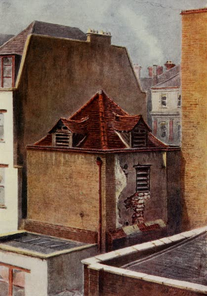 Relics & Memorials of London City - The Tower of Elsing Hospital, London Wall (1910)