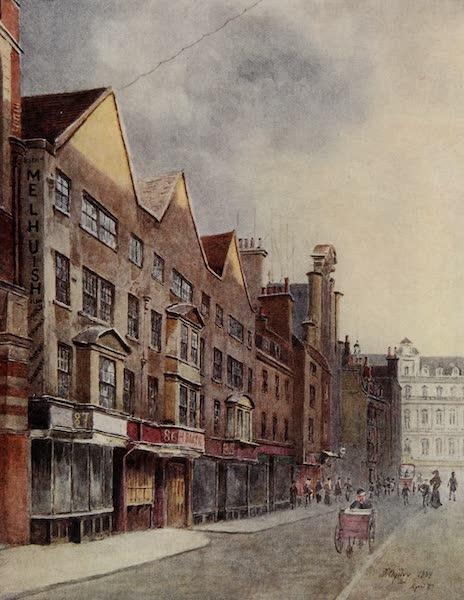 Relics & Memorials of London City - Nos. 85, 86, 87 Fetter Lane (1910)