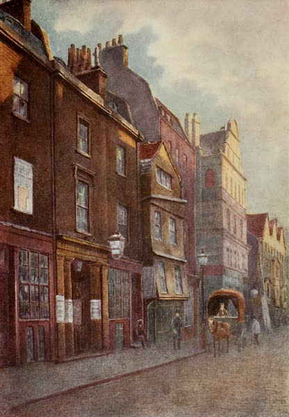Relics & Memorials of London City - Old Houses in Fetter Lane, and Wesleyan Chapel (1910)
