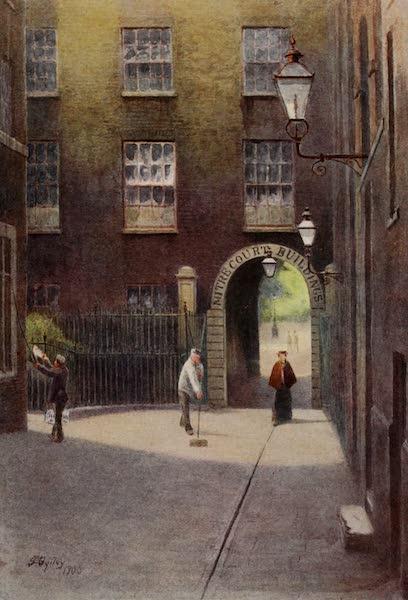 Relics & Memorials of London City - Mitre Court, Fleet Street (1910)