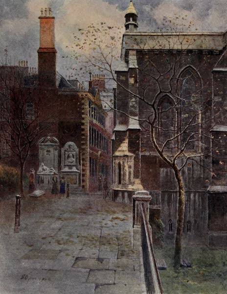 Relics & Memorials of London City - Oliver Goldsmith's Tomb and the Master's House (1910)