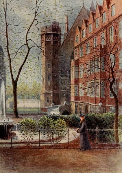 Relics & Memorials of London City - Garden Court and Temple Fountain (1910)