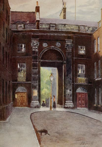 Relics & Memorials of London City - Water Gate of Essex House (1910)