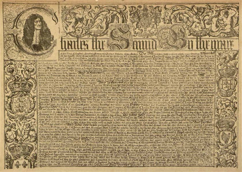 Relics of the Honourable British East India Company - Facsimile of Charter of 5 Oct. 1677 (1909)