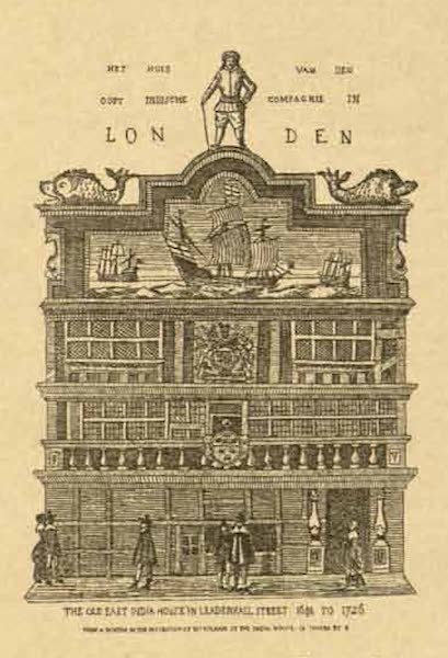 Relics of the Honourable British East India Company - The Old London East India Company House, Leadenhall Street (1909)