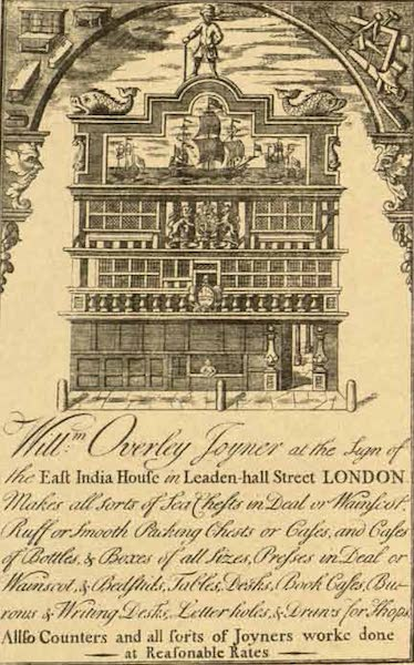 Relics of the Honourable British East India Company - Crosby House, the Head India House from Overley's Advertisement (1909)