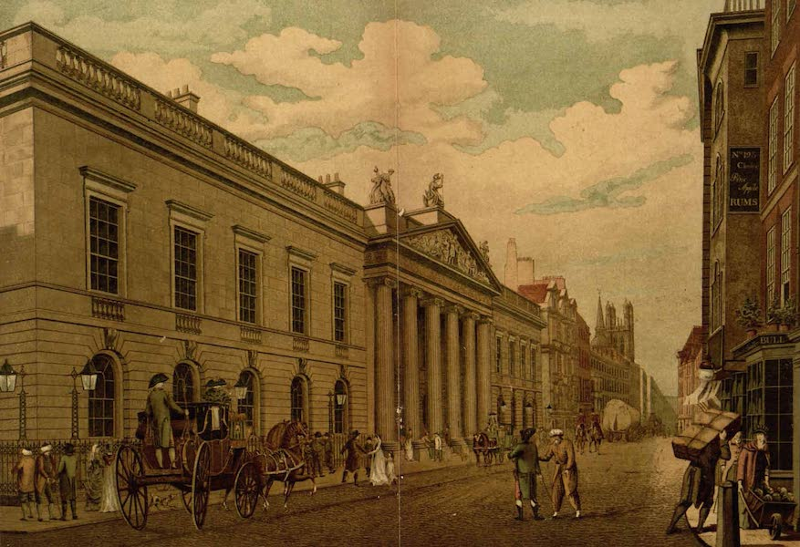 Relics of the Honourable British East India Company - Front of the East India House, Leadenhall Street, as Rebuilt in 1796 (1909)