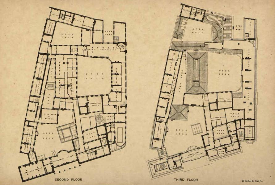 Relics of the Honourable British East India Company - Plans of the East India House in Leadenhall Street, 1858 (1909)