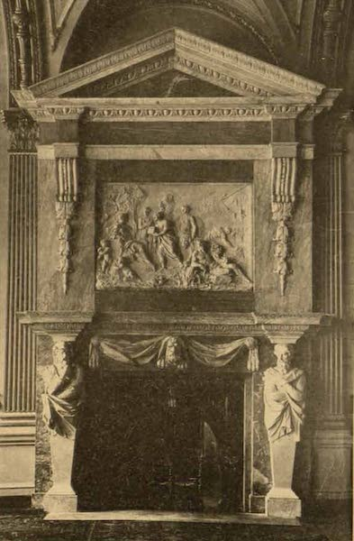 Relics of the Honourable British East India Company - Mantel Piece in the Council Room of the India House (1909)