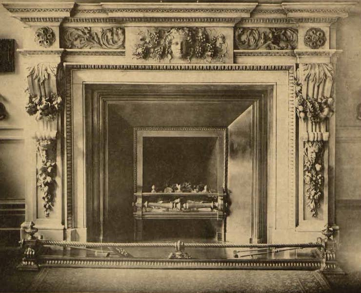 Relics of the Honourable British East India Company - Mantel Piece in the Revenue Committee Room, India Office (1909)