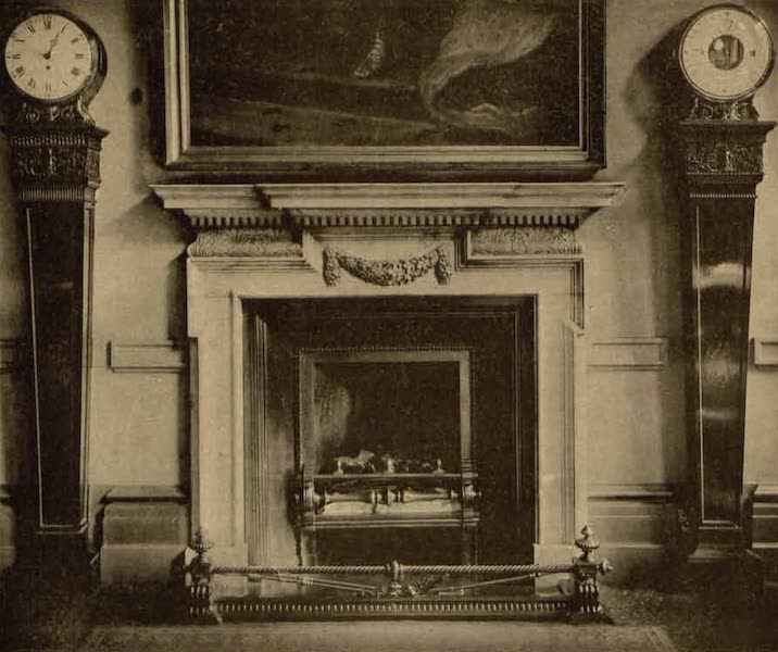 Relics of the Honourable British East India Company - Mantel Piece in the Finance Committee Room, India Office [II] (1909)