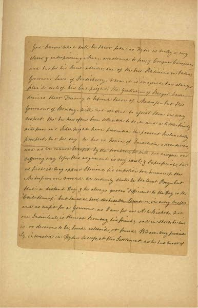 Relics of the Honourable British East India Company - A Letter from Eliza Draper, dated Tellicherry, April, 1769 [II] (1909)