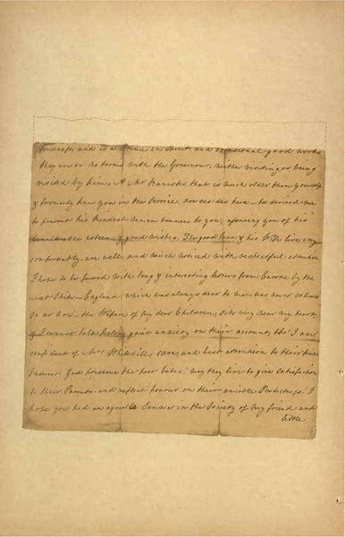Relics of the Honourable British East India Company - A Letter from Eliza Draper, dated Tellicherry, April, 1769 [VI] (1909)